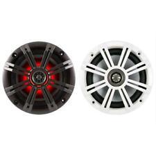 "Kicker 43KM654LCW 390W 4-Ohm 6.5"" 6-1/2 7-Color-LED Coaxial Car Speakers KM654"