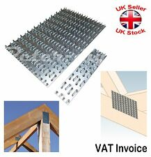 Galvanised Joining Splits Timber Mending Nail Spiked Punched Plates 4 Sizes