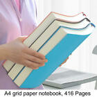 """A4 Grid Paper Notebook Soft Leather 416 Pages Graph Paper Journal 8.5"""" X 11.3"""""""