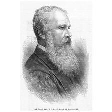 JOHN CHARLES RYLE Dean of Salisbury - Antique Print 1880