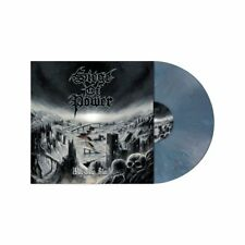 SIEGE OF POWER - Warning Blast (NEW*LIM. 200 SLATE BLUE MARBLED*ASPHYX*AUTOPSY)