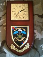 SBS Special Boat Service Regiment Military Wall Plaque & Clock Old Style
