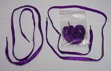 Red Hat Ladies - Long, Purple Glitter Shoelaces - Purple Shoe Laces