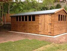 20X12 HEAVY DUTY APEX SHED - 13mm T/G, WORKSHOP
