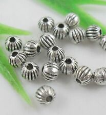 200pcs Tibetan Silver Round Ball Spacers Beads 4mm   (Lead-free)