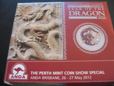 Australia 2012 Year Of The Dragon PURPLE Silver $1 1 Oz. Coin COA and BOX