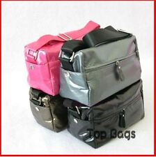 SMALL SHOULDER Travel / camera everything  BAG Purse Pink Grey Brown Black