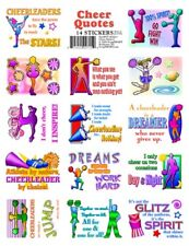 14 Cheerleading Quotes Stickers - Fun & Motivational - Great Party Favors