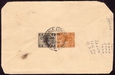 FMS 1934 COVER Kuala Lumpur to Malacca badly trimmed : 4c Tiger freak @FC308