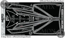 Yamaha YZF R1 2009 Front Fairing Number Board Motografix 3D Gel Protector