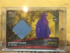 Gold 2018 Topps Now WWE Undertaker Wrestlemania 34 Mat Relic 1/1 WWF XXXIV