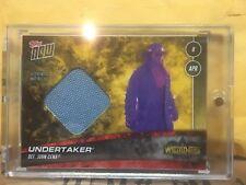 Gold 2018 Topps Now WWE Undertaker Wrestlemania 34 Mat Relic 1/1 WWF XXXIV