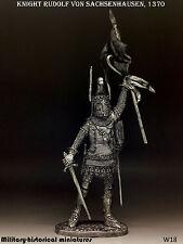 Knight Rudolf von Sachsenhausen 1370,Tin toy soldier 54 mm, figurine, sculpture
