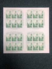 769 1cent  Yosemitie Park Souviener Sheet. Issued Without Gum Block Of 4