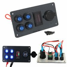Marine Boat On-Off LED Rocker Switch Panel Dual USB Charger Voltmeter Gauge AU
