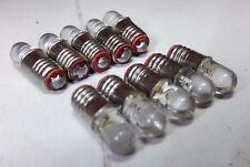 10x 12V E5 LES Yellow LED Miniature Filament Screw Dolls House Light Bulbs
