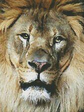 Lion Face - Cross Stitch Chart - FREE POST