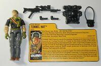 1988 GI Joe Night Force EOD Tunnel Rat v2 Figure File Card *Near Complete READ*