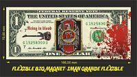 SLAYER REIGN IN BLOOD IMAN BILLETE 1 DOLLAR BILL MAGNET