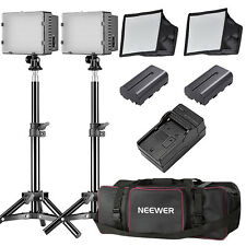Neewer 2pack CN-160 LED Dimmable Photo Camera Camcorder Video Light Kit
