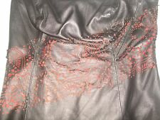 228.00 WOMENS LAUNDRY STUNNING CUT OUT SEXY LAMB LEATHER HALTER TOP SIZE L