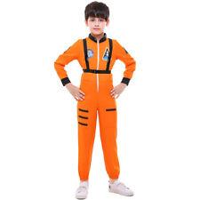 Kids Astronaut Spaceman White Suit Boys Costume Kids NASA Uniform Jumpsuit