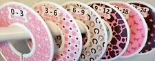 6 Baby Closet Dividers in Western Cowgirl Cd572 Nursery Gift Clothes Organizers