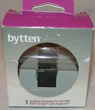 Bytten Designer Accessory for Fitbit Charge and Charge Hr Chloe Metallic Silver