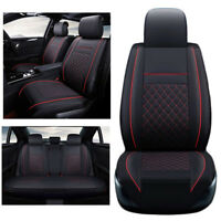 Black&Red 5 Seats Car Breathable Luxury Seat PU Leather Seat Covers