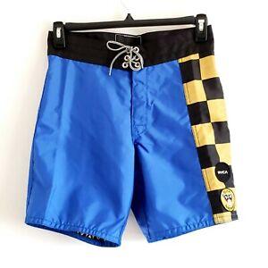 "RVCA Birdwell Beach Britches Point Panic 18"" Boardshorts Men Blue Swim Shorts 29"