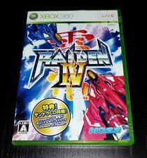 Xbox 360 Raiden IV 2D-Shooter +Soundtrack-CD SHMUP Japan NTSC
