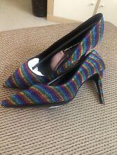 Dorothy Perkins Rainbow Glitter 9cm Heels Brand New Size 8 (41)