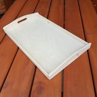 Wooden Serving Large Tray, Set from 1 to 10, 50 cm x 30 cm x 5.5 cm, - Unpainted