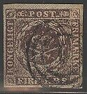 Denmark Postage Stamp Cat #2 Used W/Certificate