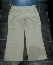 Ladies New without tags NEXT beige 100% linen Trousers Size 18