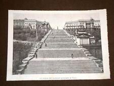 Odessa nel 1898 Lo scalone del Boulevard principale al Porto Ucraina