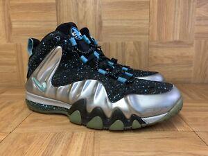 RARE🔥 Nike Barkley Posite Max Metallic Silver Gamma Blue Shoes Sz 13 555097-040