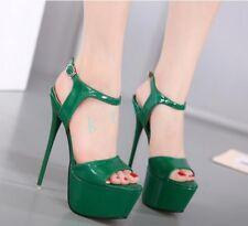 Womens Super High Heels Platform Stilettos Party Clubwear Sandals Shoes Pumps sz