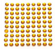 260 x 5mm Self Adhesive Yellow Diamante Stick on Crystals Sticky Rhinestone Gems