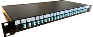 "1U 19"" LC Multimode Fibre Optic Patch Panel 4 fibre to 48 fibre lot"