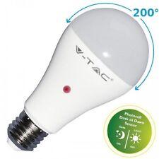 LAMPADA LAMPADINA V-TAC VTAC E27 BULBO A60 9W SENSORE CREPUSCOLARE VT-2016 BUIO