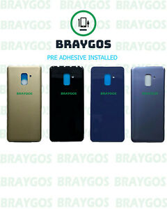 Rear Back Battery Cover Glass For Samsung Galaxy A8 2018 SM-A530 With Adhesive