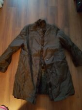 New wout tag nylon outer pattern fake fur lined coat brown sz M excellent condit