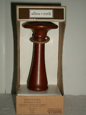 Allen Roth Mahogany Wood Curtain Holders  #275045 NEW