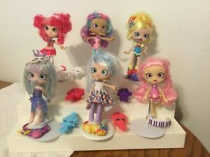 Shopkins Shoppies (6) by Moose with Accessories Headbands and Hair Brushes