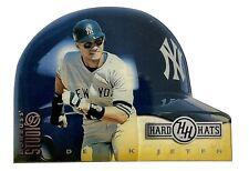 Derek Jeter 1997 Donruss Studio #13 Hard Hats #1336/5000 Die-Cut Helmet Yankees