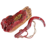 Bloody Severed Foot Body Parts Zombie Halloween Horror Prop Decoration