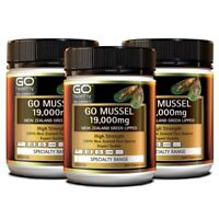 [Go Healthy] New Zealand Green Lipped Mussel 19,000mg 300 Capsules x 3 Packs