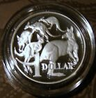 **1991 $1 SILVER PROOF coin. Only 25,000 made! SCARCE! MOB of ROOS in capsule!**