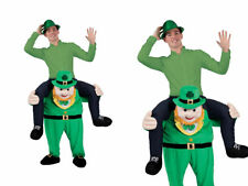 Carry Me Leprechaun Mascot Mens St Patricks Day Fancy Dress Costume